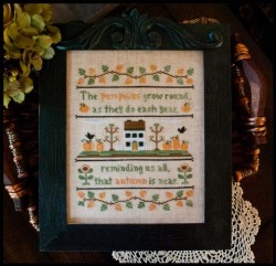 AUTUMN PUMPKINS Cross Stitch Pattern from Country Cottage Needleworks
