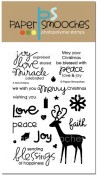 A HOLY HOLIDAY Clear Stamp Set from Paper Smooches