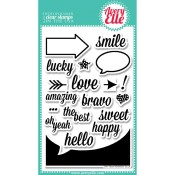 OH YEAH Clear Stamp Set from Avery Elle