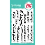 HOLIDAY FILL IN THE BLANK Clear Stamp Set from Avery Elle