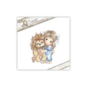 TILDA WITH LEO THE LION Cling Rubber Stamp Animal of the Year Collection from Magnolia