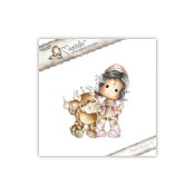 TILDA WITH NESTOR THE BULL Cling Rubber Stamp Animal of the Year Collection from Magnolia