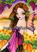 AUTUMN HARVEST Rubber Stamp Ching-Chou Kuik Collection from Sweet Pea Stamps