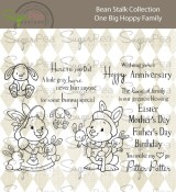 **PREORDER** New! ONE BIG HOPPY FAMILY Clear Stamp Set Bean Stalk Collection from SugarPea Designs