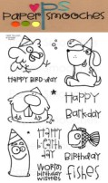 BIRTHDAY BUDDIES Clear Stamp Set from Paper Smooches