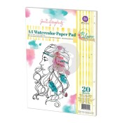 New! A4 WATERCOLOR PAPER PAD 20 Sheets Bloom Girl Collection from Prima Marketing