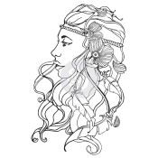 New! FREE SPIRIT Cling Rubber Stamp Bloom Girl Collection from Prima Marketing
