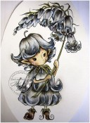 WHIMSICAL BLUEBELL SPRITE Rubber Stamp Aurora Wings Mitzi Sato-Wiuff Collection from Sweet Pea Stamps