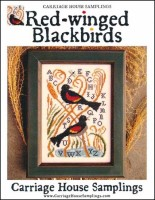 RED-WINGED BLACKBIRDS Cross Stitch Pattern from Carriage House Samplings