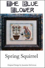 SPRING SQUIRREL Counted Cross Stitch Pattern from The Blue Flower