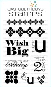 **PREORDER** BOLD WISHES Clear Stamp Set from Cas-ual Fridays Stamps