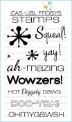 **PREORDER** EXCLAMATIONS Clear Stamp Set from Cas-ual Fridays Stamps