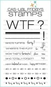 WTF Clear Stamp Set from Cas-ual Fridays Stamps