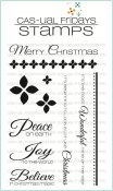 **PREORDER** CHRISTMAS CAROLS Clear Stamp Set from Cas-ual Fridays Stamps
