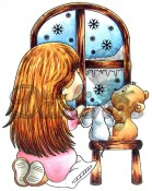 **REORDER** SNOWFLAKE WONDER Rubber Stamp CandiBean Collection from Little Darlings Rubber Stamps