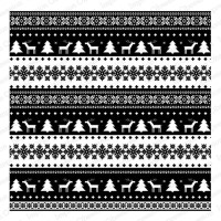 Cover-A-Card NORDIC CHRISTMAS Cling Cushion Rubber Background Stamp from Impression Obsession