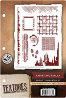 BASKET AND BURLAP - EzMount Rubber Stamp Set Textures Artist Collection from Crafter's Companion