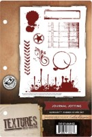JOURNAL JOTTING - EzMount Rubber Stamp Set Textures Artist Collection from Crafter's Companion