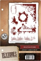 SPLATS & STAINS EzMount Rubber Stamp Set Textures Artist Collection from Crafter's Companion