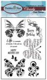 BUTTERFLIES 2 Clearly Beautiful Clear Stamp Set from Prickley Pear Rubber Stamps