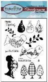 BUILD A BIRD 2 Clearly Beautiful Clear Stamp Set from Prickley Pear Rubber Stamps