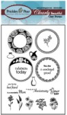 SPRING CIRCLES Clearly Beautiful Clear Stamp Set from Prickley Pear Rubber Stamps