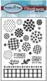 BLOBBY FLOWERS Clearly Beautiful Clear Stamp Set from Prickley Pear Rubber Stamps