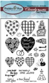 HEART KEY CROWN Clearly Beautiful Clear Stamp Set from Prickley Pear Rubber Stamps