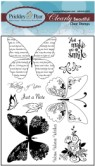 BUTTERFLIES Clearly Beautiful Clear Stamp Set from Prickley Pear Rubber Stamps