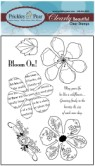 HIBISCUS Clearly Beautiful Clear Stamp Set from Prickley Pear Rubber Stamps