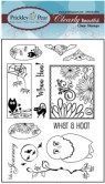 BUILD AN OWL Clearly Beautiful Clear Stamp Set from Prickley Pear Rubber Stamps