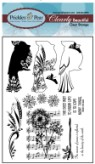 CARDINAL Clearly Beautiful Clear Stamp Set from Prickley Pear Rubber Stamps