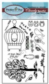 BIRDCAGE Clearly Beautiful Clear Stamp Set from Prickley Pear Rubber Stamps
