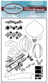 HOT AIR BALLOON Clearly Beautiful Clear Stamp Set from Prickley Pear Rubber Stamps