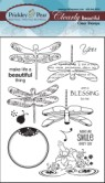 DRAGONFLY Clearly Beautiful Clear Stamp Set from Prickley Pear Rubber Stamps