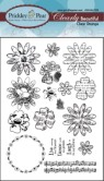 BEAUTIFUL FLOWERS Clearly Beautiful Clear Stamp Set from Prickley Pear Rubber Stamps