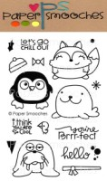 CHILLY CHUMS Clear Stamp Set from Paper Smooches