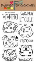 CHUBBY CHUMS Clear Stamp Set from Paper Smooches
