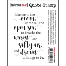 OPEN SEA Cling Mounted Rubber Stamp from Darkroom Door