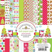 SANTA EXPRESS Paper Pad 6x6 Santa Express Collection from Doodlebug Designs