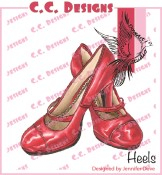 HEELS Rubber Stamp DoveArt Studio Collection from C.C. Designs