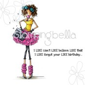 FARRAH LOVES FLASHDANCE Rubber Stamp Uptown Girls Collection from Stamping Bella