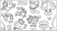 FAIRY FRIENDS Stamp Set from Pink Cat Studio