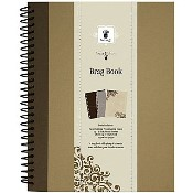 """BROWN ARTIST EDITION SPIRAL BRAG BOOK 7""""x9"""" from Fancy Pants"""