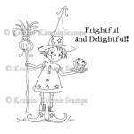 FRIGHTFUL AND DELIGHTFUL Rubber Stamp by Cheryl Alger from Kraftin Kimmie Stamps