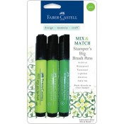 MIX & MATCH STAMPER'S BIG BRUSH PEN 3 PK GREEN SET from Faber-Castell