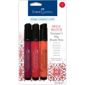 MIX & MATCH STAMPER'S BIG BRUSH PEN 3 PK RED SET from Faber-Castell