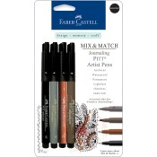 MIX & MATCH PITT ARTIST PEN ASSORTED JOURNALING SET from Faber-Castell