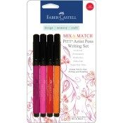 MIX & MATCH PITT ARTIST PEN RED & YELLOW WRITING SET from Faber-Castell