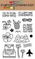 GET OUTTA TOWN Clear Stamp Set from Paper Smooches